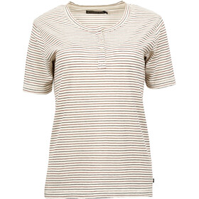 United By Blue Mull Stripe T-shirt à col tunisien Femme, cream